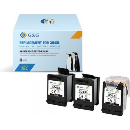 PACK 3 CARTOUCHES D'ENCRE N°302 XL NOIR - 1x Tête d'impression réutilisable + 3x Cartouches de recharge (Eco Saver).