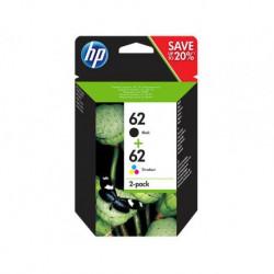 Cartouches HP 62 Pack Noir & Couleur