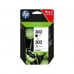 Cartouches HP N°302 Pack Noir & Couleur