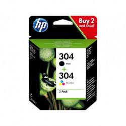 Cartouches HP N°304 Pack Noir & Couleur