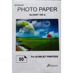 Fotopapier Glanzend A4 - 180g - 50 v