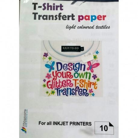 T-Shirt Transfert A4 - 10 f