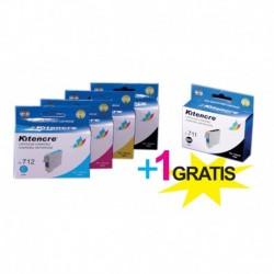 Pack 4 Inktpatronen + 1 GRATIS - T0715