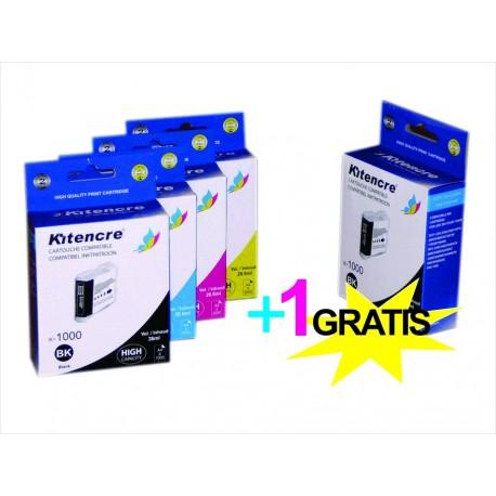 Cartouches LC-1000 HC - Pack 4+1 GRATIS