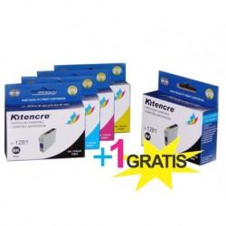 Pack 4 Inktpatronen +1 GRATIS - T1285