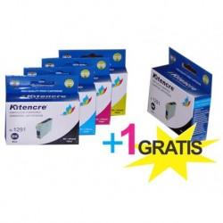 Pack 4 Inktpatronen +1 GRATIS - T1295