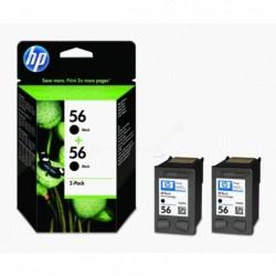 Cartouches HP n°56 Pack Noir 2pc.