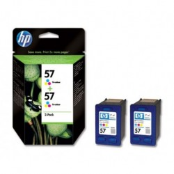 Cartouches HP n°57 Pack Couleur 2pc.