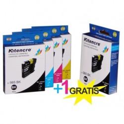 Inktpatronen LC-985 - Pack 4+1 GRATIS