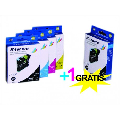 Cartouches LC-1100 HC - Pack 4+1 GRATIS