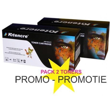Pack 2 Toners 36A Noir