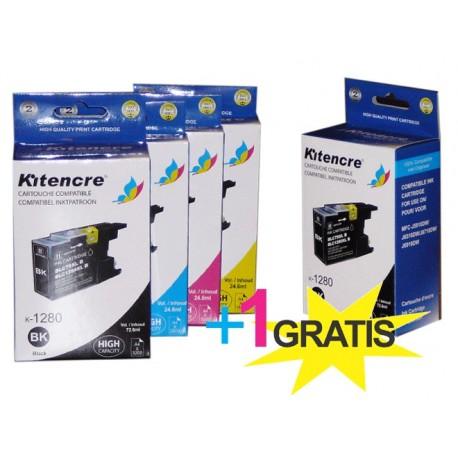 Cartouches d'encre LC-1280 HC - Pack 4+1 GRATIS