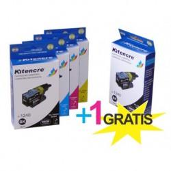 Inktpatronen LC-1240 - Pack 4+1 GRATIS
