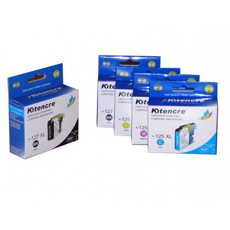 Cartouches LC-127/125 - Pack 4+1 GRATIS