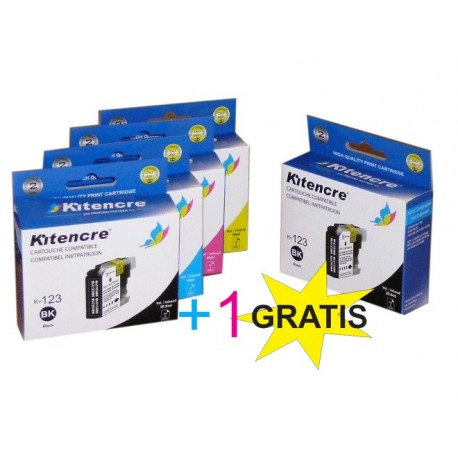 Cartouches LC-123 - Pack 4+1 GRATIS