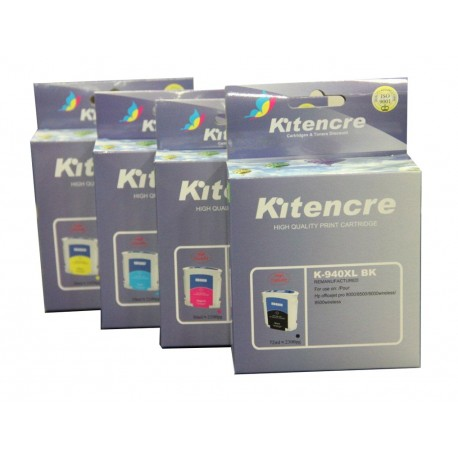 Lot 4 Cartouches N°940 XL K / C / M / Y