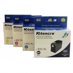 Pack 4 Inktpatronen N°932/933 XL K / C / M / Y