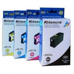 Pack 4 Inktpatronen N°950/951 XL K / C / M / Y