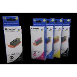 Pack Inktpatronen CLI581XXL / PGI-580XXL - 5 Inktpatronen